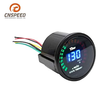 M-Egal 52mm 12V Digital LED Exhaust Gas Temperature Gauge