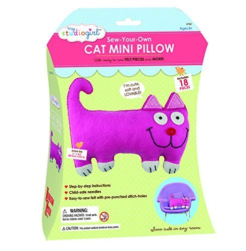 tienda de venta My Studio Girl Sew-Your-Own Flatsie Mini Cushion Cushion Cushion Kit, Cat by University Games  calidad garantizada