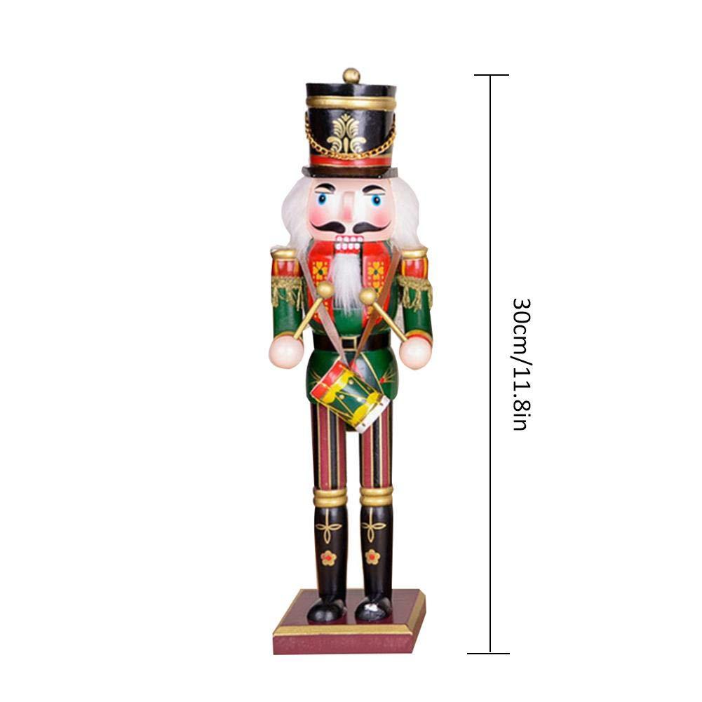 Hutiee 4er Set Nussknacker Holz Spielzeug Puppe 30cm Nussknacker