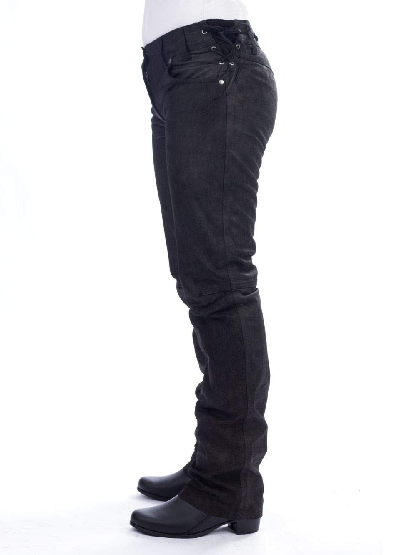 BELO CRAWFORD Damenlederhose schwarz nubuk 36