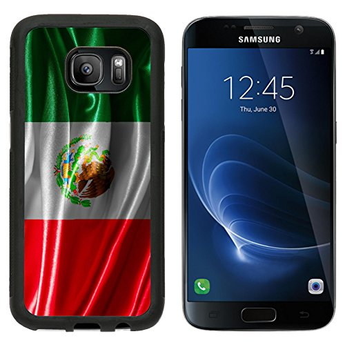 MSD Premium Samsung Galaxy S7 Aluminum Backplate Bumper Snap Case IMAGE ID 29282357 Mexican flag fabric with waves