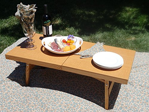 The Sun Valley Folding Cocktail and picnic Table by Mesa Inspired- Beautifiul finish- easy to store, carry and - Stores Valley Sun