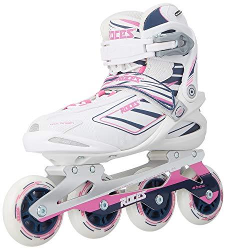 Roces 400802 Women's Model IZI Fitness Inline Skate, US 7, White/Blue/Pink