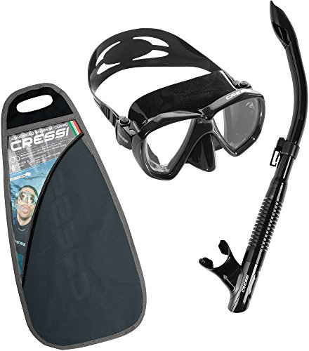 mens split fin snorkel set - 7