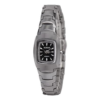Relojes de las señoras moda ultra delgado acero de tungsteno relojes , silver 1