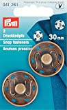 extra large snaps - Prym Extra Large Sew On Metal Snap Fasteners Antique Brass - per pack of 2
