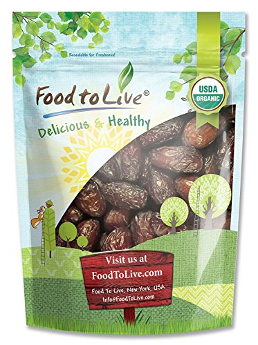 Organic Medjool Dates Food to Live (Kosher)  1 Pound