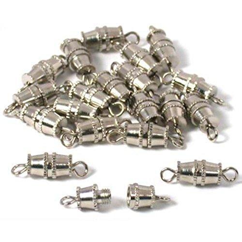 - 20 Barrel Clasp Bracelet Necklace Chain Jewelry Parts