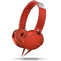 Sony MDRXB550APRCE On-ear Headphones, Red