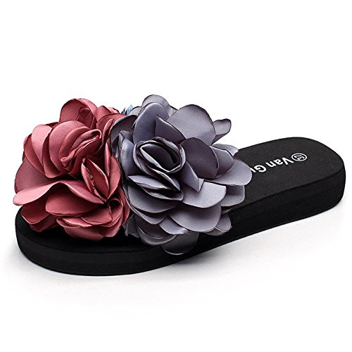 HGTYU-Handmade Slippers Slotted And Flowers Cool Slippers Casual Style Wear Beach 39 vkrPoBzYK