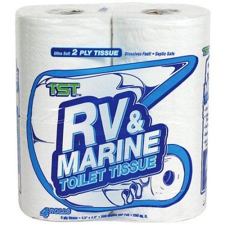 Camco Toilet Paper, RV & Marine Fast Dissolving, 4 Rolls