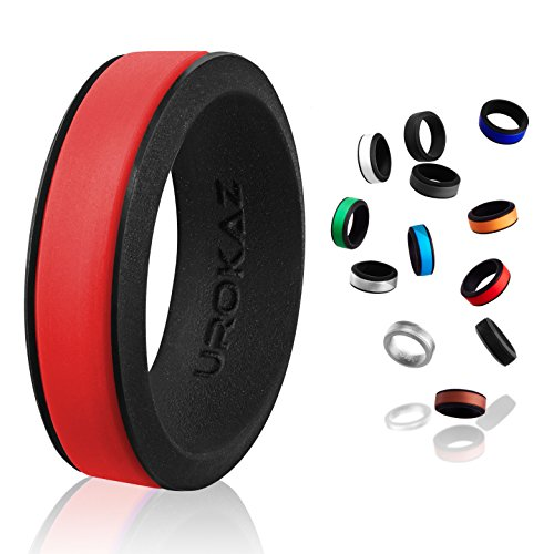 UROKAZ - Silicone Wedding Ring, The Only Ring that Fits Your Lifestyle - Whether You are Single or Married, UROKAZ Ring is Right for You - It is Fashionable, Flexible, - How Color What On Best Looks To You Tell