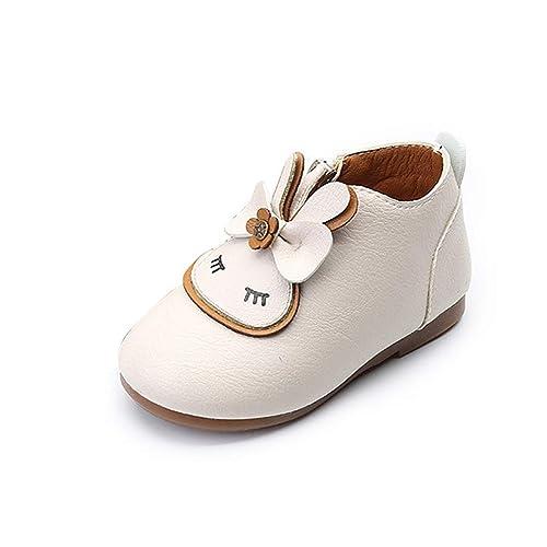 Niños pequeños Botas de bebé niños niñas Zapatos Blandos de Cuero de Dibujos Animados pequeño niño Botas de Tobillo niñas Zapatos: Amazon.es: Zapatos y ...