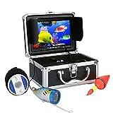 AMOCAM Underwater Fish Finder, Professional Underwater Fishing Camera, Portable 7 inch Monitor HD 1000TVL Fishing Camera (7 inch Screen/IR Night Version/20M Cable)
