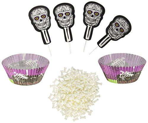 Wilton 415-3183 Deadly Soiree Cupcake Decorating Kit, Assorted]()