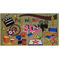 LA RUG FT-153 Fun Rugs Fun Time Movie Area Rug, 3 by 5-Feet, Multi-Color