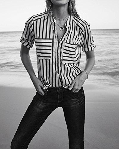Noir Vmerika Moda Stripe Shirt E10 4 Vero Blouse Femme 3 PTzqdw