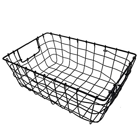Hierro Alambre de baño o cocina de almacenamiento cesta para jabón, toallas de baño, belleza suministros, platos: Amazon.es: Hogar