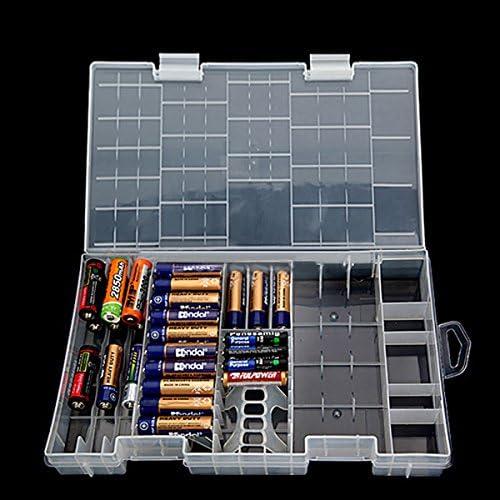 Tutoy AAA AA C D 9V Titular de la batería de plástico Duro Caja de ...
