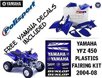 Yamaha YFZ 450 azul paneles embellecedores plásticos Set Kit Polisport 2004 - 08: Amazon.es: Coche y moto