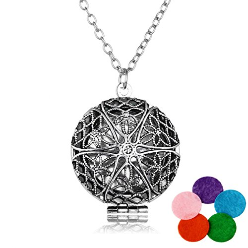 HOUSWEETY Aromatherapy Essential Diffuser Necklace