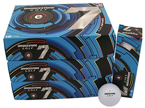 6 Dozen Bridgestone e7 Pure Distance 72 Golf Balls - White