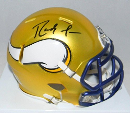 Randy Moss Minnesota Vikings Signed Autograph Blaze Speed Mini Helmet JSA Witnessed - Mini Moss
