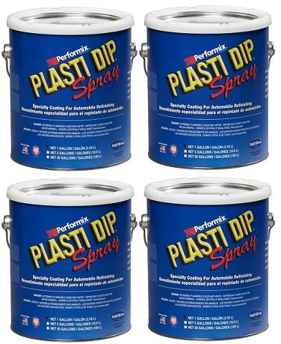 Plasti Dip Performix 10101013S-4PK Gunmetal Grey Spray - 1 Gallon, (Pack of 4) by Plasti Dip (Image #1)