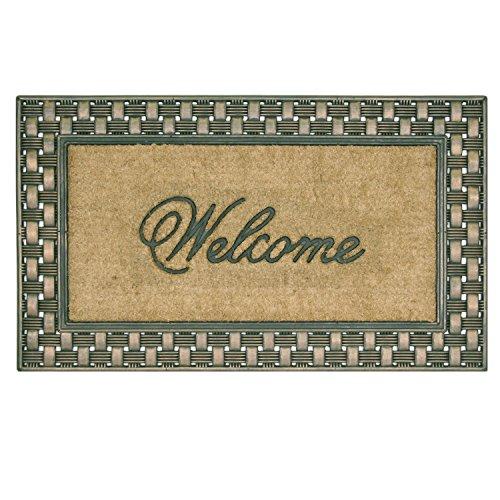 Bacova Guild Basketweave Welcome Coir Framed Mat