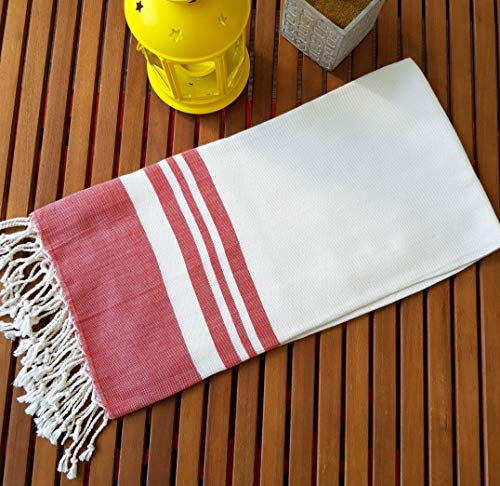 Secret Sea Collection Bamboo Beach Towel 70'' x 35'' (Pomegranate Red)    (Towel Travel Bamboo)