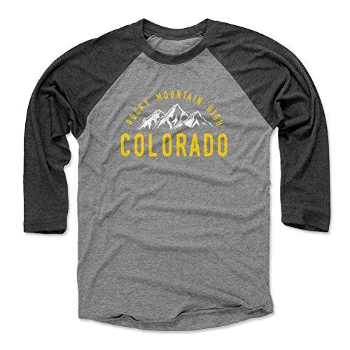 Colorado Baseball Tee Shirt - Large Black/Heather Gray - Colorado Rocky Mountain High WHT