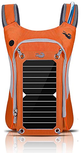 HOWO Outdoor Pack Commputer Solar Powered Backpack Orange