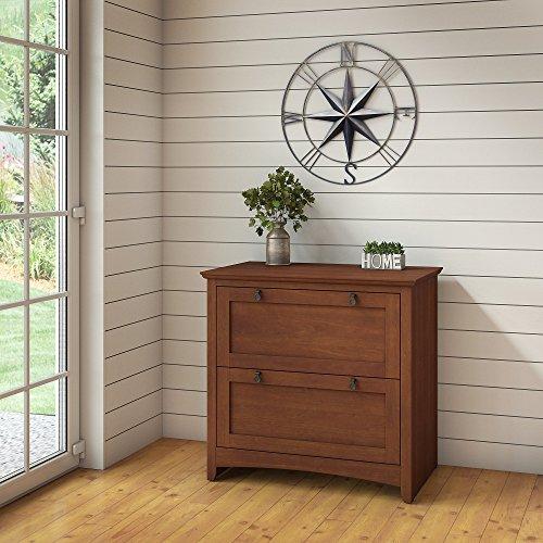 Bush Furniture Buena Vista 2 Drawer Lateral File Cabinet in Serene Cherry