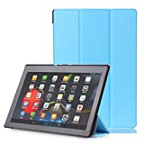 For Lenovo Tab3 10 Case, HP95(TM) Fashion Magnetic Auto Sleep Leather Cover Case + Touch Pen+HD Screen Protective Film For 10.1' Lenovo Tab3 10 Business (TB3-X70F/N/L) (Sky Blue)