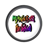 CafePress - My twin is not far behind Wall Clock - Unique Decorative 10'' Wall Clock