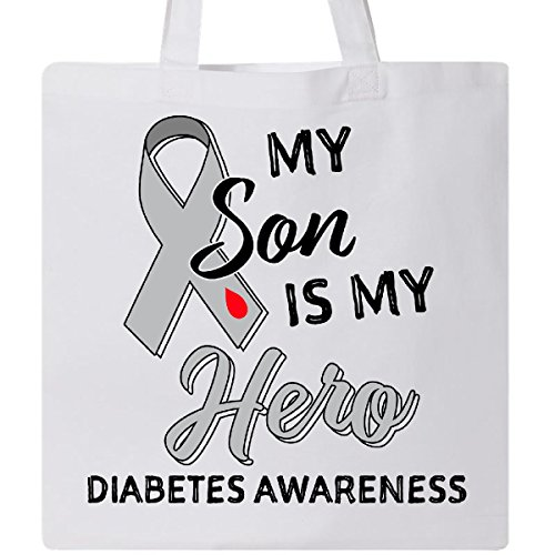 Inktastic - My Son is My Hero- Diabetes Awareness Tote Bag White 2bdac
