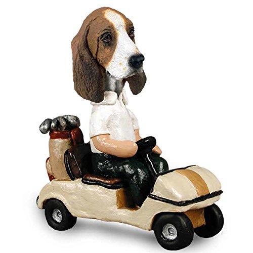 Basset Hound Golf Cart Doogie Collectable Figurine