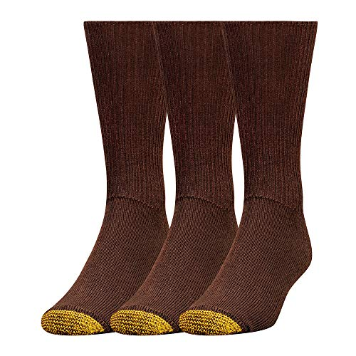 - Gold Toe Men's Cushion Foot Fluffie Sock, 3-Pack, Brown, 10-13 (Shoe Size 6-12.5)