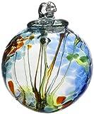Kitras Art Glass Decorative Spirit Ball 6-Inch Light Blue