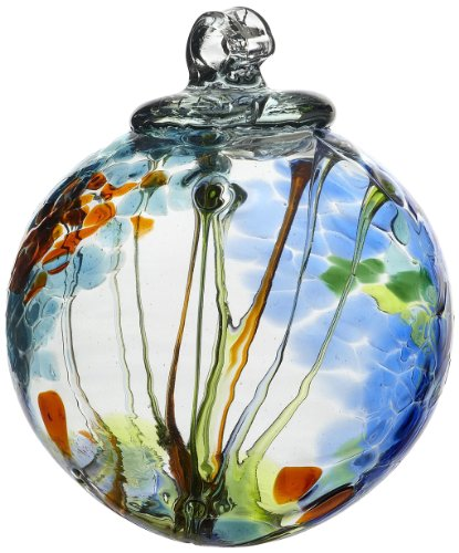 Kitras Art Glass Decorative Spirit Ball, 6-Inch, Light Blue (Blown Glass Ball)