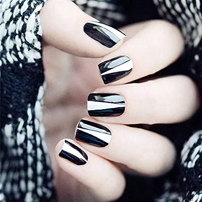 Mobray - Juego de 24 uñas postizas para niñas, diseño de ...