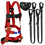 Fusion Climb Tactical Edition Kids Commercial Zip Line Kit Harness/Dual Lanyard/Trolley Bundle FTK-K-HLLT-08