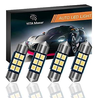 YITAMOTOR 31mm Festoon LED Bulbs Super Bright White Error Free CANBUS 6-SMD 2835 Chipsets, DE3175 LED Bulb, DE3022 LED, 3175 LED Bulbs for LED Interior Car Lights Dome Map Light - 4pcs: Automotive