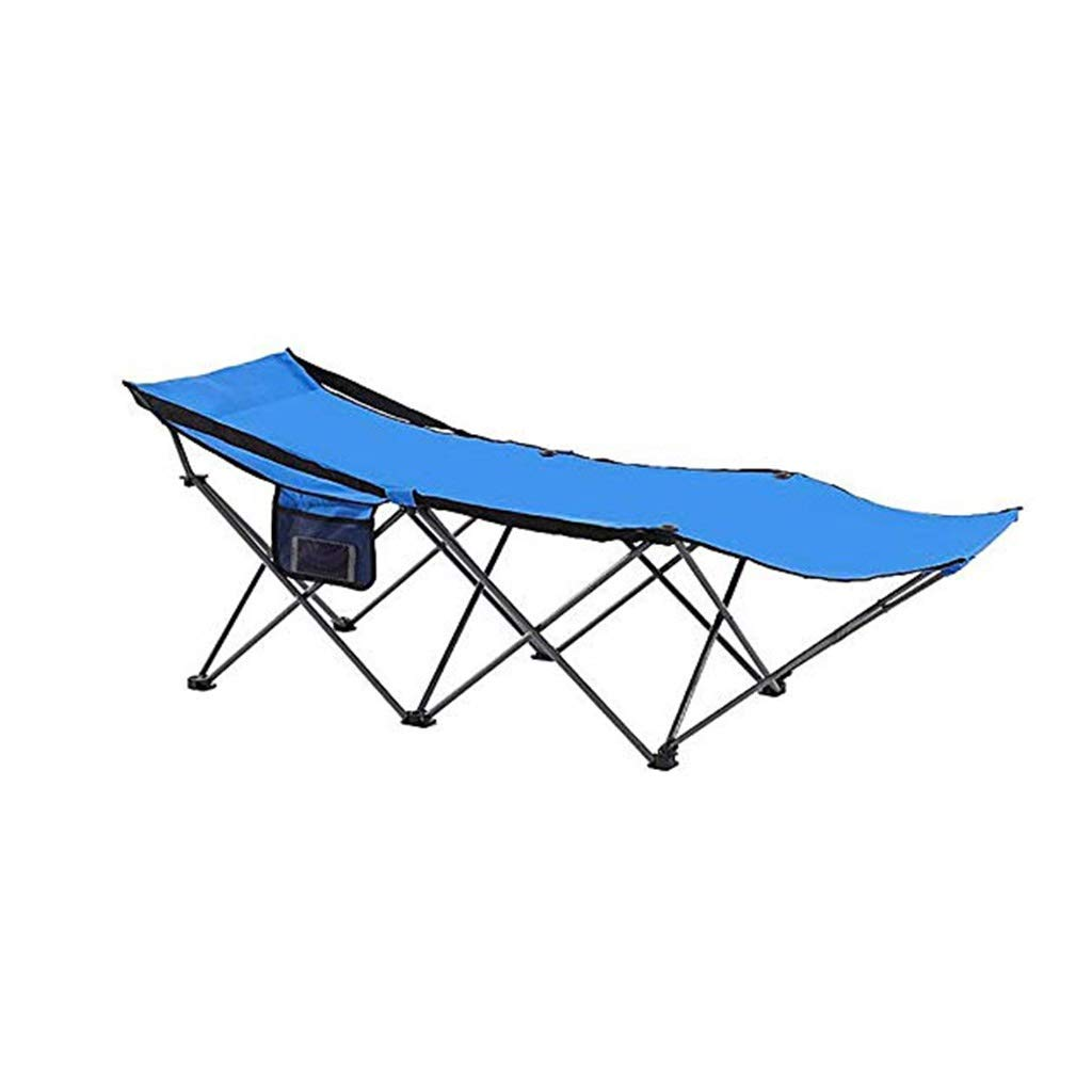 YYTLTY Camping Chairs Folding Recliner, Portable with Side Pocket for Outdoor Hiking Picnic Fishing Travelling 180×63×60cm by YYTLTY