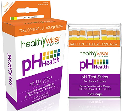 pH Test Strips 120ct + BONUS Alkaline Food chart PDF + 21 Alkaline Diet Recipes eBook For pH Balance, Quick and Accurate Results in 15 seconds, Check Your Acidic & Alkaline Level Using Saliva & Urine - Hach Water Quality Test Strips