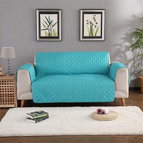 Modern Solid Color Pet Sofa Cover Protection Cover Dog/Cat Pets Non-Slip Sofa Cover Child Seater Chair Covers Mint Green Two seat 130x195cm