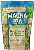 Hawaiian Mauna Loa Macadamia Nuts Maui Onion & Garlic 11 Oz. Bag
