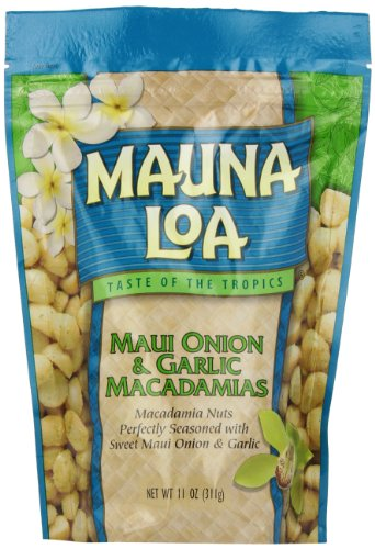 Garlic Sweets - Mauna Loa Macadamias, Maui Onion & Garlic, 11-Ounce Packages