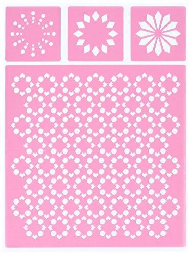 UPC 665573064561, Bo Bunny 10736456 Essentials Stickable Stencils, Kaleidoscope, Pink