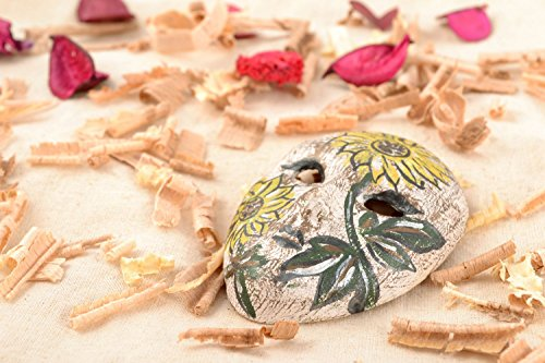 Interior Handmade Clay Pendant Miniature Carnival Mask Home Decorating -